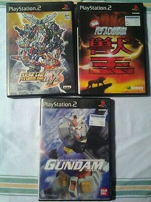 Lotto Di 3 Giochi, Playstation 2/Ps2/Play 2, Giapponese/Jap/Import/Jp