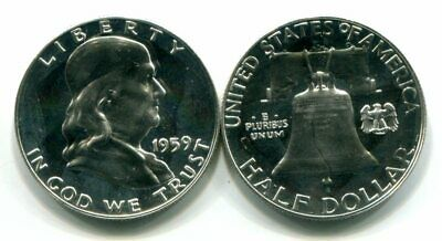 Gem PROOF 1959 SILVER FRANKLIN Half Dollar - Postpaid!