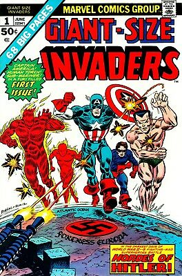 The Invaders Digital Comics Collection On Dvd Captain America Sub Mariner
