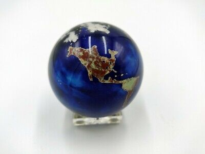2002 Lundberg Studios World Globe Earth Paperweight Signed and Numbered
