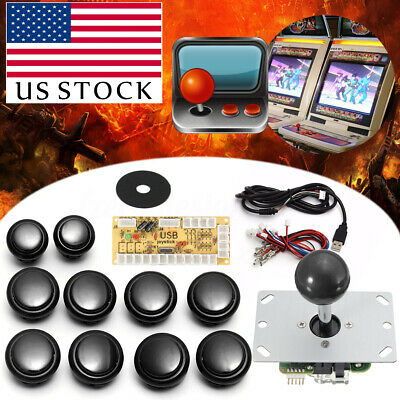 4 Colors Arcade DIY Kit Game Parts USB Encoder To PC Joystick + Buttons