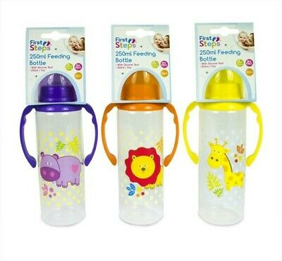 First Steps Baby Feeding Bottle With Handle 250ml