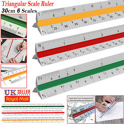 Triangle Scale Ruler Engineer Draughtsmen Measure Measuring Drawing Architects