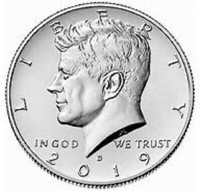 2019 Kennedy Half Dollar - Clad Uncirculated -2 Coin Set P&D