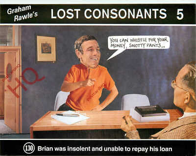 Picture Postcard~ Graham Rawle's Lost Consonants 130 (Humour)