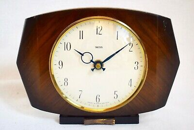 VINTAGE 1960s SMITHS WALNUT ELECTRONIC MID CENTURY DESIGN MANTEL CLOCK