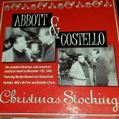 """ABBOTT AND COSTELLO: Christmas Stocking includes """"Who's On First"""" Old Time Radio"""