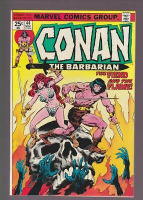 Conan the Barbarian # 44  The Fiend and the Flame !  grade 9.4 scarce book !