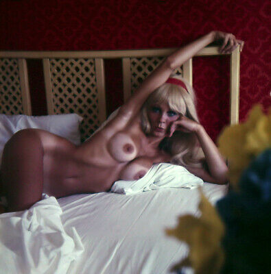 Bunny Yeager 60s Color Camera Transparency Photograph Pin-up Blonde Tan Lines NR