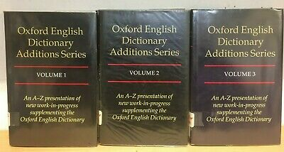 Oxford English Dictionary Additions Series, 1997, complete 3 volumes