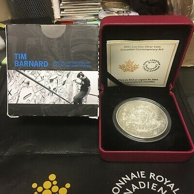 2014 Canadian $30 2 oz Silver Coin Contemporary Art Tim Barnard Rcm 5000 mintage