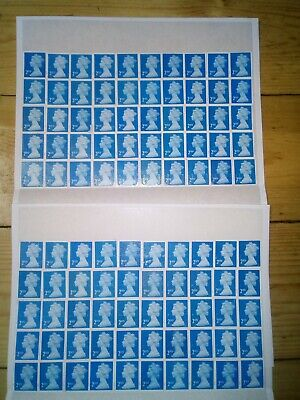 100 2nd CLASS SECURITY STAMPS UNFRANKED OFF PAPER WITH GUM £61.00 FV 61p   (111)