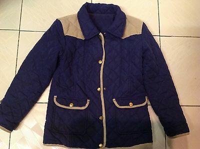 Matalan Girls Quilted Coat Age 7-8 years