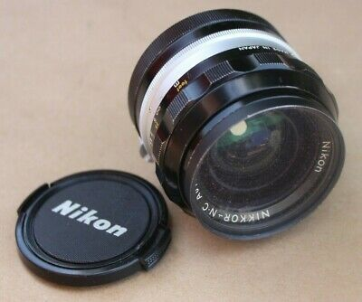 Nikon Nikkor-Nc Auto 24Mm 1:2.8 Camera Lens With Cap Non Ai From Japan # 421369