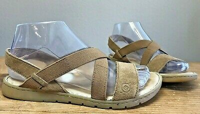6b2b079cc Born Ladies Size 7 M Sandals Atiana Tan Leather Active Wear Shoes F01016