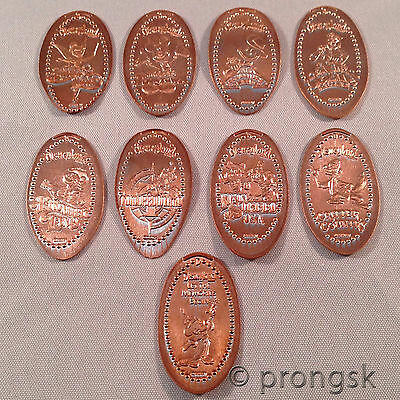 Disney Disneyland Lands Pressed Coin Penny Pennies Complete Set Mickey Tink DLR
