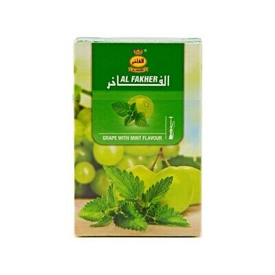 2 x GRAPE AND MINT GENUINE AL FAKHER  50g - boxed