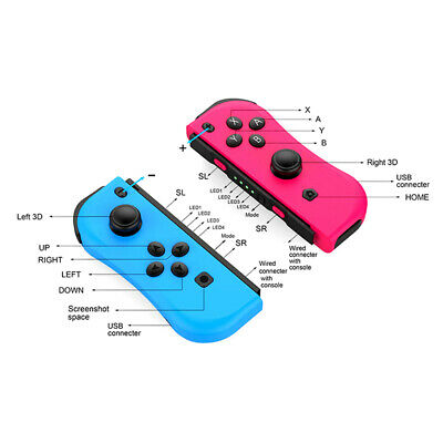Left & Right Wireless Pro Game Controller Gamepad For Nintendo Switch ConsolePJU
