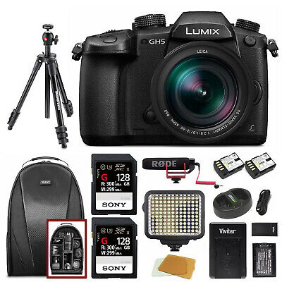 Panasonic LUMIX GH5LK 4K Mirrorless w/ Lecia 12-60mm Pro Video Bundle