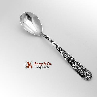 Repousse Preserve Spoon Sterling Silver S Kirk Son Co 1905