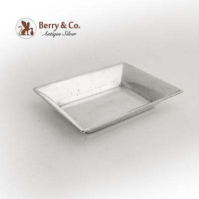 Vintage Rectangular Nut Cup Butter Pat Stieff Sterling Silver 1955