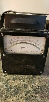 Weston Voltage Meter Model 433 Kimball Electronic Lab, Inc. in Metal Case