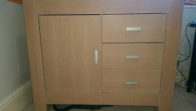Kidsmill Solid Oak Changing Station Chest Of Drawers