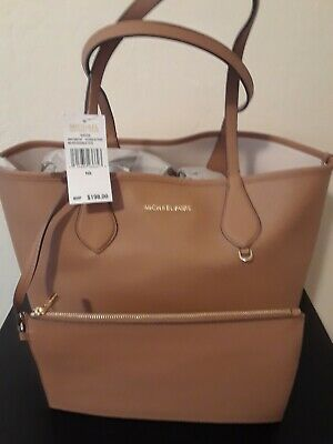 427f5dce8fe1d4 $198 NWT MICHAEL Kors Saige Medium Reversible Tote Bag~Mulberry Soft ...