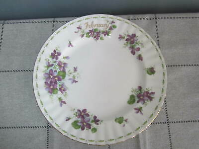 Vintage 1970 Royal Albert Flower of the Month February Violet 8 inch Bread Plate