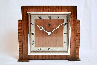 1930s TEMCO ELECTRIC OAK CASED VINTAGE MANTEL CLOCK