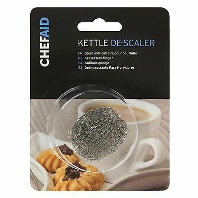 Kettle Limescale Descaler Stainless Steel Doughnut Silver Wire Cleaner Brand New