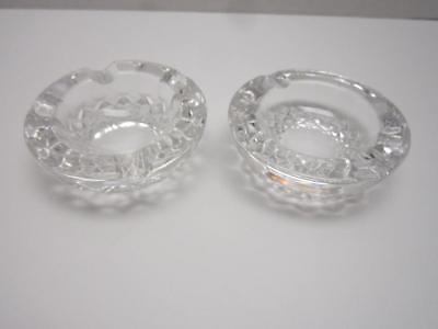 Vintage Waterford Crystal Pair Ashtrays Heavy No Chips Or Cracks Cigarette