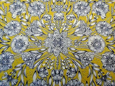 """Liberty Classic Revival Fabric """"Ladie Zadie"""" 95 X 138 Cm Tana Lawn Chartreuse"""