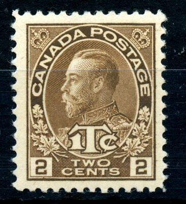 Weeda Canada MR4 F/VF MNH 2c + 1c brown 1916 War Tax issue CV $70
