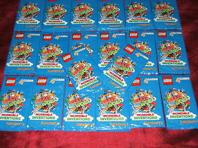 60 packs 2018 240 cards Lego Build The World NEW Incredible Inventions
