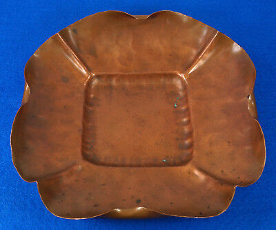 Rare Antique Arts & Crafts Handmade Craftsman Co. Hammered Copper Dish #884