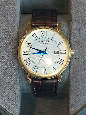 Citizen Eco Drive Mens Dress Watch Mint Condition 40mm Dial
