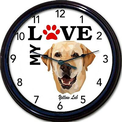 CafePress Labrador Retriever Wall Clock 596482211 Black