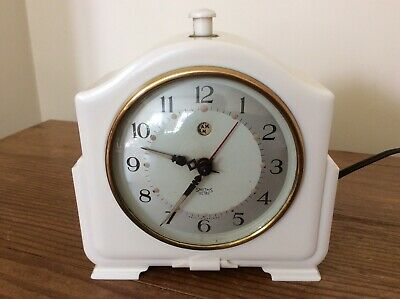 Cream Balelite Smiths Electric Mantle Clock ~ WORKING.