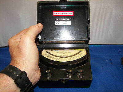 Antique Voltmeter 2 scale 15 VAC ,30 VAC scale Mirrored jeweled movement