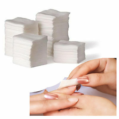 900X Soft Nail Art Tip Manicure Polish Remover Clean Wipes Cotton Lint Pad P BS