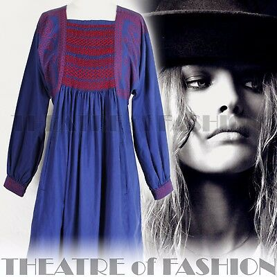 DRESS SMOCK VINTAGE VICTORIAN WORK WEAR CLOTHKITS 60s 70s 10 12 14 16 18 BOHO