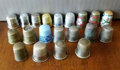 Vintage Thimbles, Advertising, Collectable Lot Of 20
