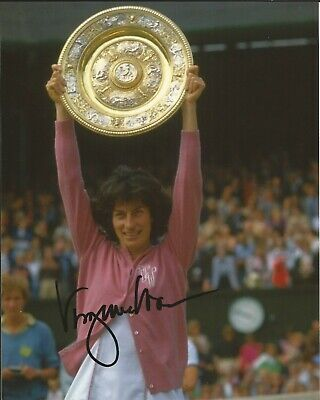 Hand Signed 8x10 photo - VIRGINIA WADE - WIMBLEDON TENNIS CHAMPION + my COA