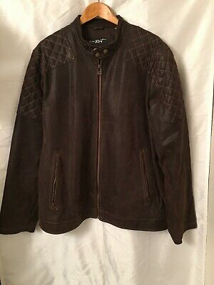 1cb235adb BLACK RIVET MENS Quilted Leather Jacket W/ Accordion Sides - $275.99 ...