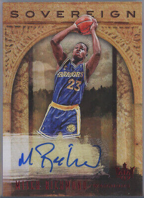 2018-19 Court Kings Sovereign Auto Ruby #SO-MRM Mitch Richmond Warriors 92/99