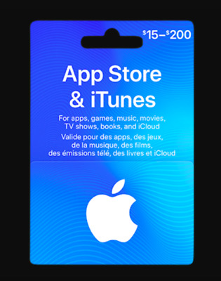 App Store and iTunes Gift Card $200 E-Delivery