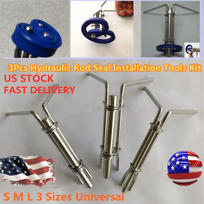 Hydraulic Cylinder Piston Rod Seal Up U-cup Installation Tool Prevents Damage 3X