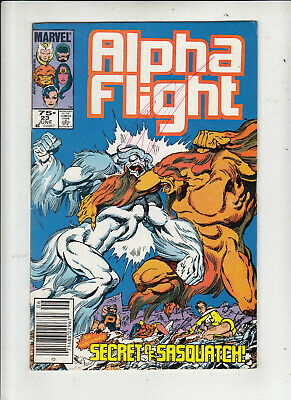 Alpha Flight #23 (Marvel 1985) 75 Cent Canadian Price Variant vg/fine