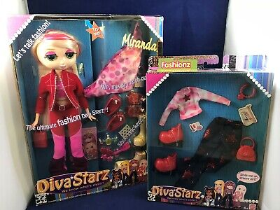 Diva Starz Talking Miranda Doll w/Accessory/Clothes Pack 2002 Blonde Hair Works!